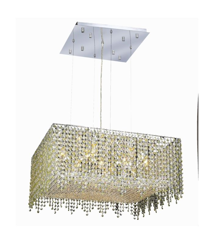 Elegant Lighting 1394D26C-LP Moda 13-Light Crystal Pendant Finished