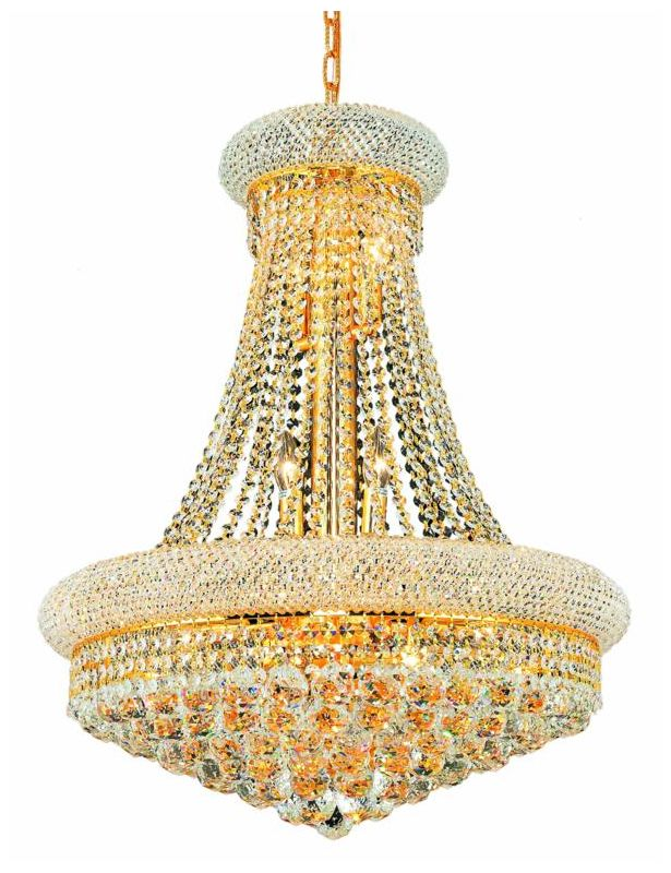Elegant Lighting 1800D24G Primo 14-Light Two-Tier Crystal Chandelier