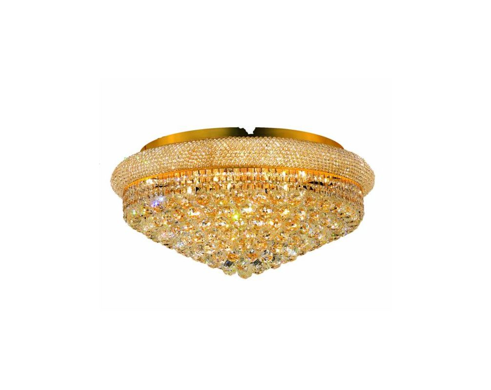 Elegant Lighting 1800F28G Primo 15-Light Single-Tier Flush Mount Sale $1722.00 ITEM: bci2011924 ID#:1800F28G/RC UPC: 848145030397 :