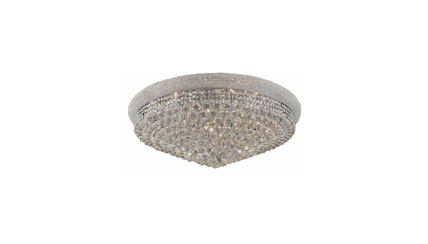 Elegant Lighting 1800F36C Primo 20-Light Single-Tier Flush Mount