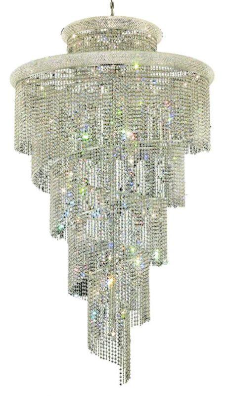 Elegant Lighting 1800SR48C Spiral 41-Light 2 Tier Crystal Chandelier