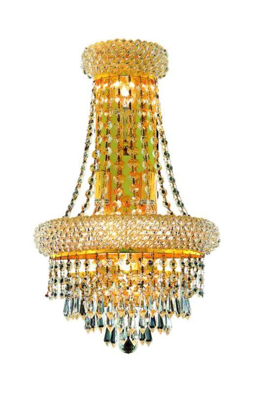 Elegant Lighting 1802W12SG Primo 4-Light Crystal Wall Sconce Finished