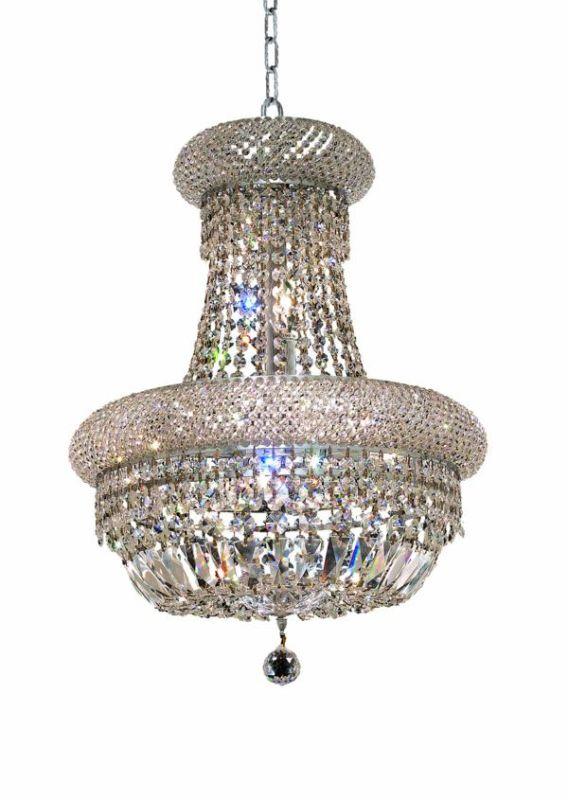 Elegant Lighting 1803D16C Primo 8-Light Two-Tier Crystal Chandelier