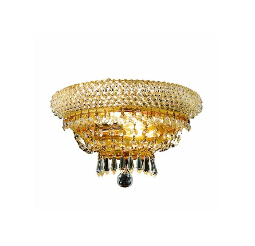 Elegant Lighting 1803W12G Primo 2-Light Crystal Wall Sconce Finished Sale $348.00 ITEM: bci2012438 ID#:1803W12G/SA UPC: 848145032803 :
