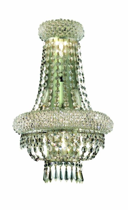 Elegant Lighting 1803W12SG Primo 4-Light Crystal Wall Sconce Finished