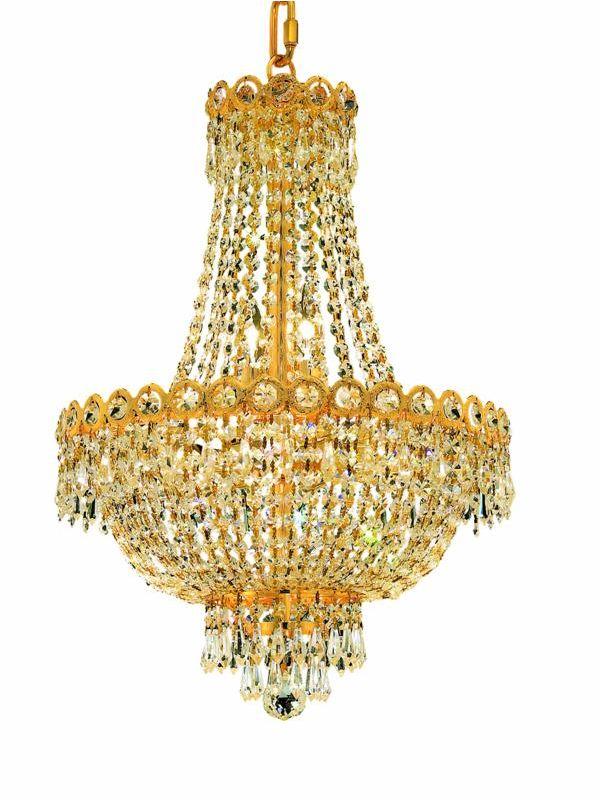 Elegant Lighting 1900D16G Century 8-Light Two-Tier Crystal Sale $1408.00 ITEM: bci2012454 ID#:1900D16G/SA UPC: 848145032964 :