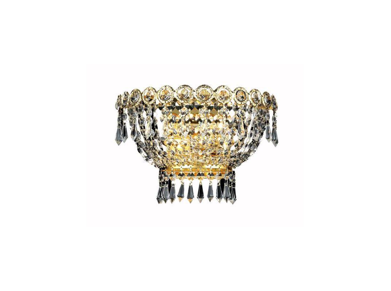 Elegant Lighting 1900W12G Century 2-Light Crystal Wall Sconce