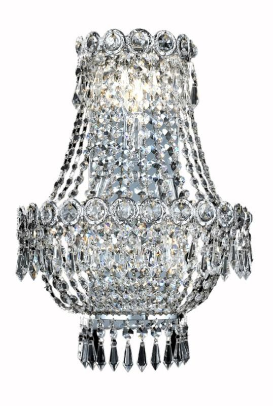 Elegant Lighting 1900W12SC Century 3-Light Crystal Wall Sconce Sale $822.00 ITEM: bci2012539 ID#:1900W12SC/SS UPC: 848145033817 :