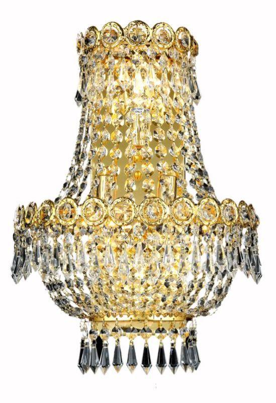 Elegant Lighting 1900W12SG Century 3-Light Crystal Wall Sconce Sale $284.00 ITEM: bci2012540 ID#:1900W12SG/RC UPC: 848145033831 :