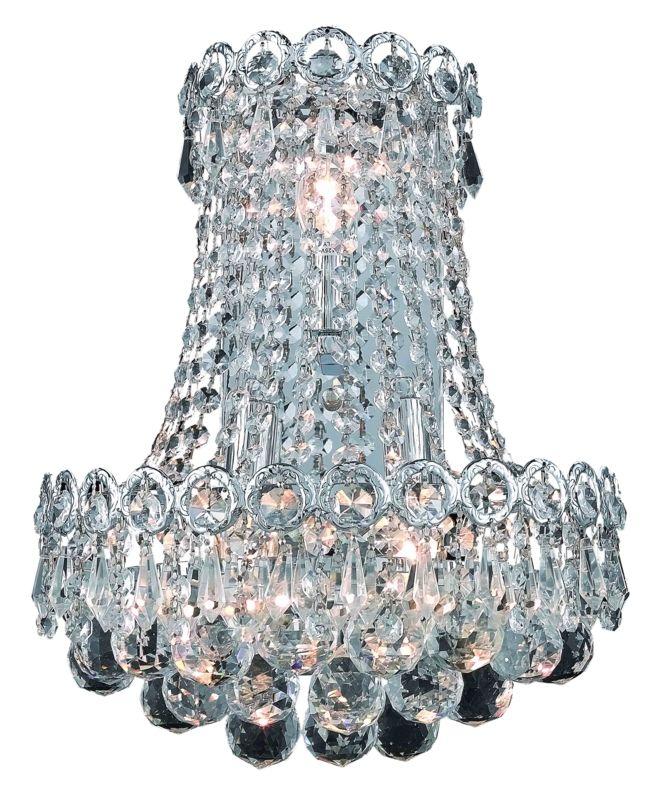 Elegant Lighting 1901W12SC Century 3-Light Crystal Wall Sconce
