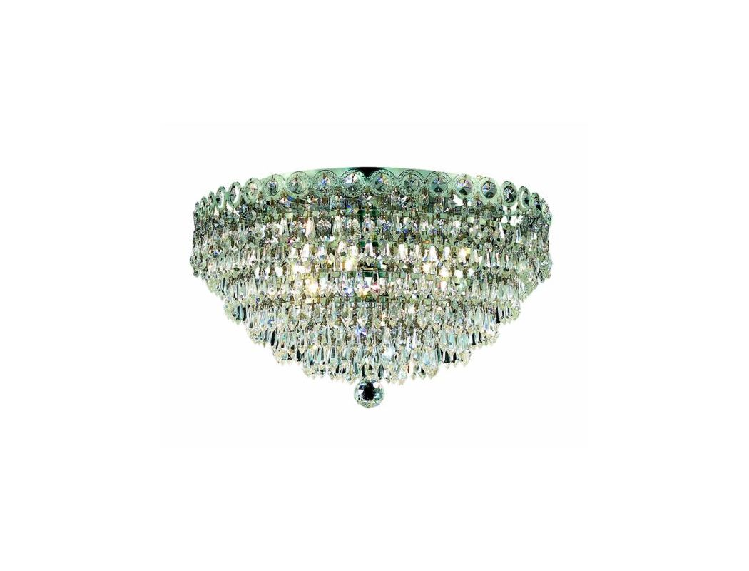 Elegant Lighting 1902F14C Century 4-Light Single-Tier Flush Mount