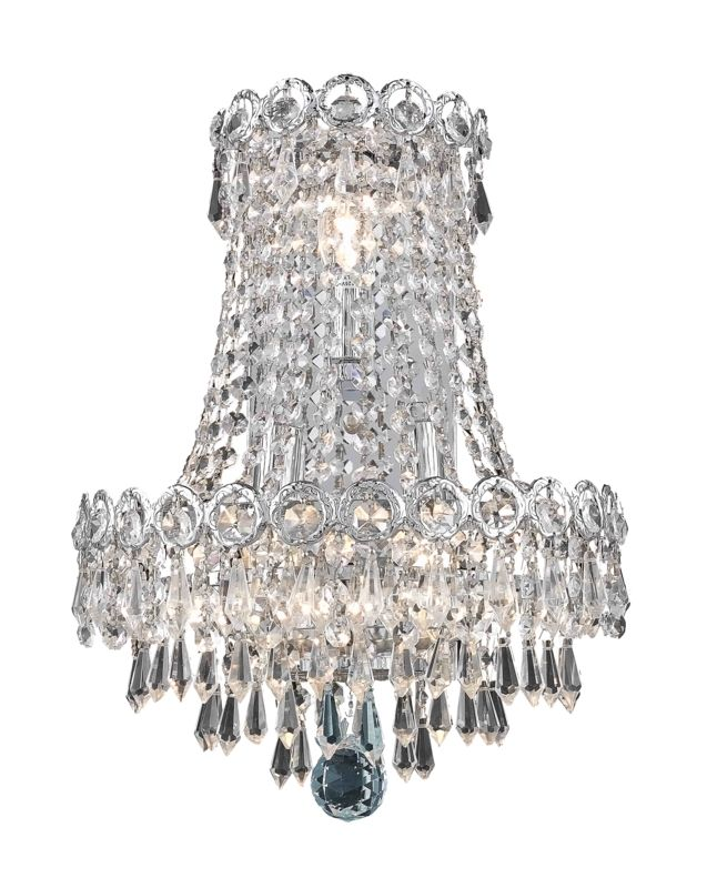 Elegant Lighting 1902W12SC Century 3-Light Crystal Wall Sconce