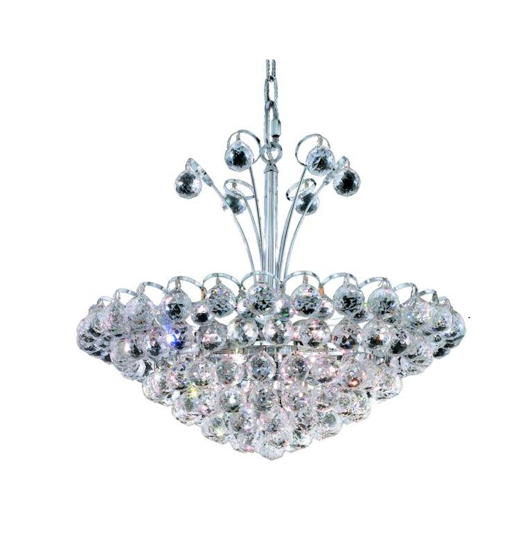 Elegant Lighting 2001D22C Godiva 8-Light Single-Tier Crystal