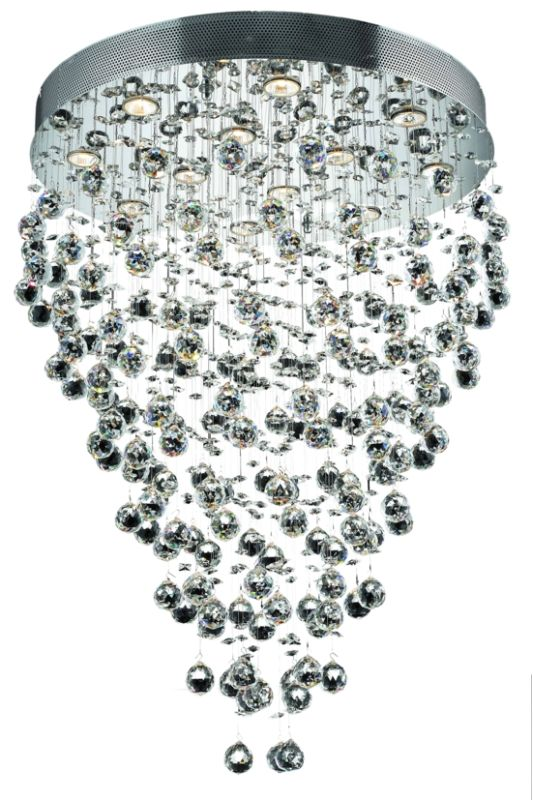 Elegant Lighting 2006D28C Galaxy 12-Light Single-Tier Crystal