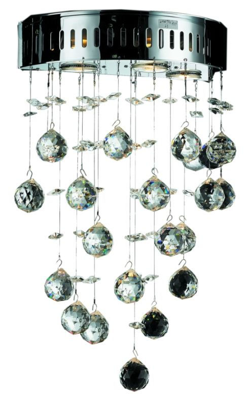 Elegant Lighting 2006W12C Galaxy 3-Light Crystal Wall Sconce Finished