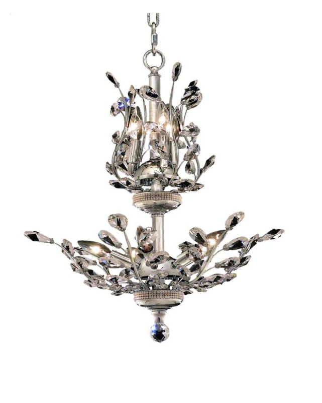 Elegant Lighting 2011D21C Orchid 8-Light Two-Tier Crystal Chandelier