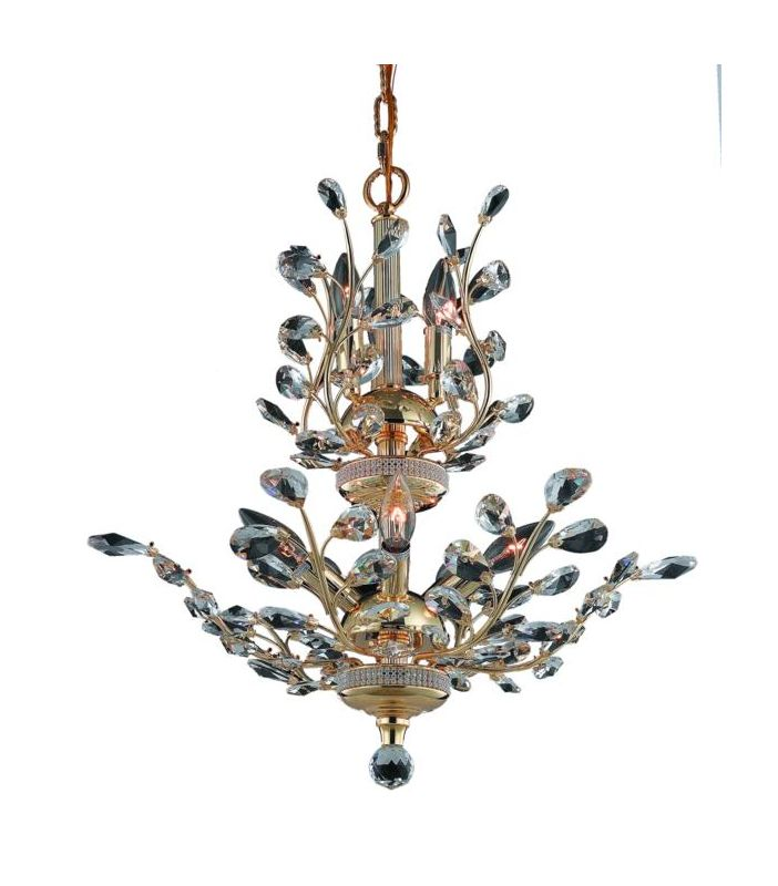 Elegant Lighting 2011D21G Orchid 8-Light Two-Tier Crystal Chandelier