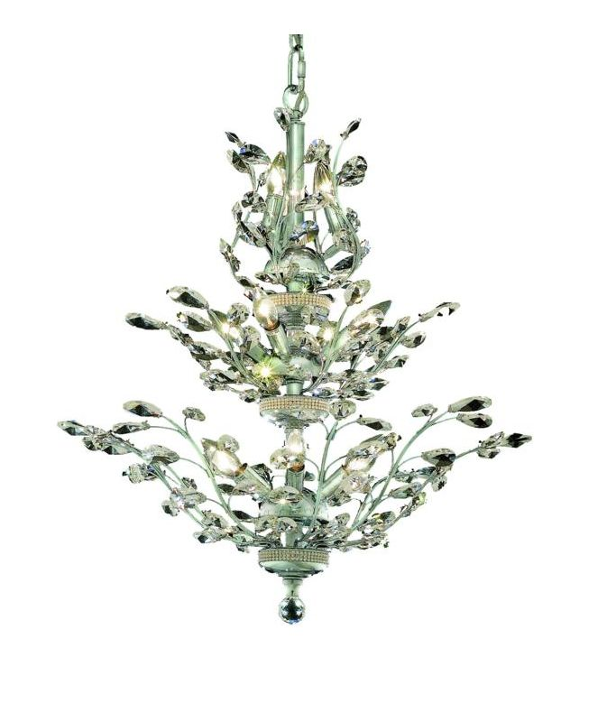 Elegant Lighting 2011D27C Orchid 13-Light Three-Tier Crystal