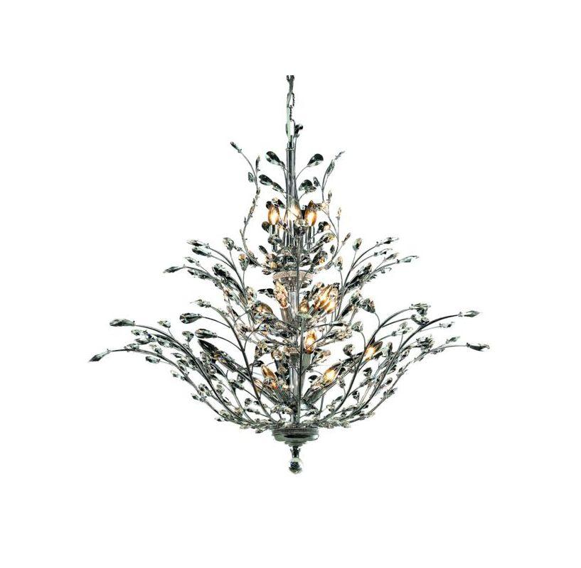 Elegant Lighting 2011G41C Orchid 18-Light Three-Tier Crystal