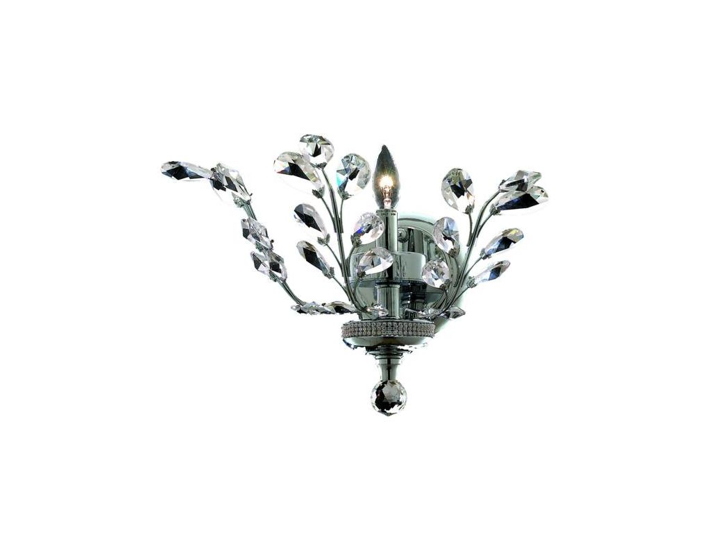 Elegant Lighting 2011W16C Orchid 1-Light Crystal Wall Sconce Finished Sale $1030.00 ITEM: bci2013059 ID#:2011W16C/SS UPC: 848145035712 :