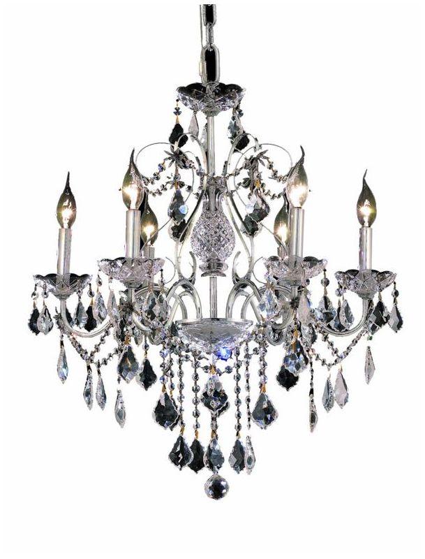 Elegant Lighting 2015D24C St. Francis 6-Light Single-Tier Crystal