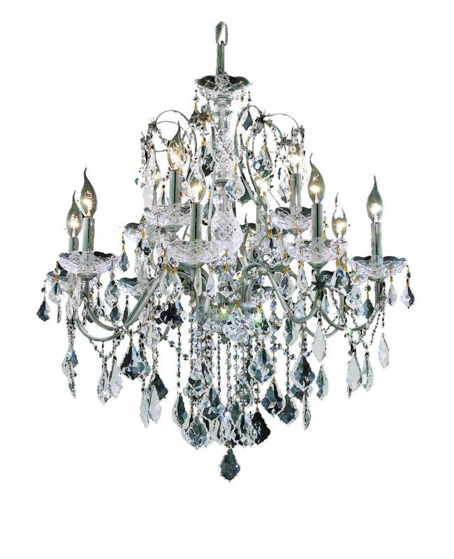 Elegant Lighting 2015D28C St. Francis 12-Light Two-Tier Crystal