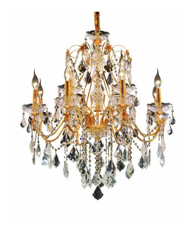 Elegant Lighting 2015D28G St. Francis 12-Light Two-Tier Crystal