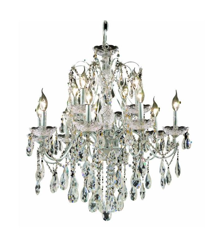 Elegant Lighting 2016D28C St. Francis 12-Light Single Tier Crystal