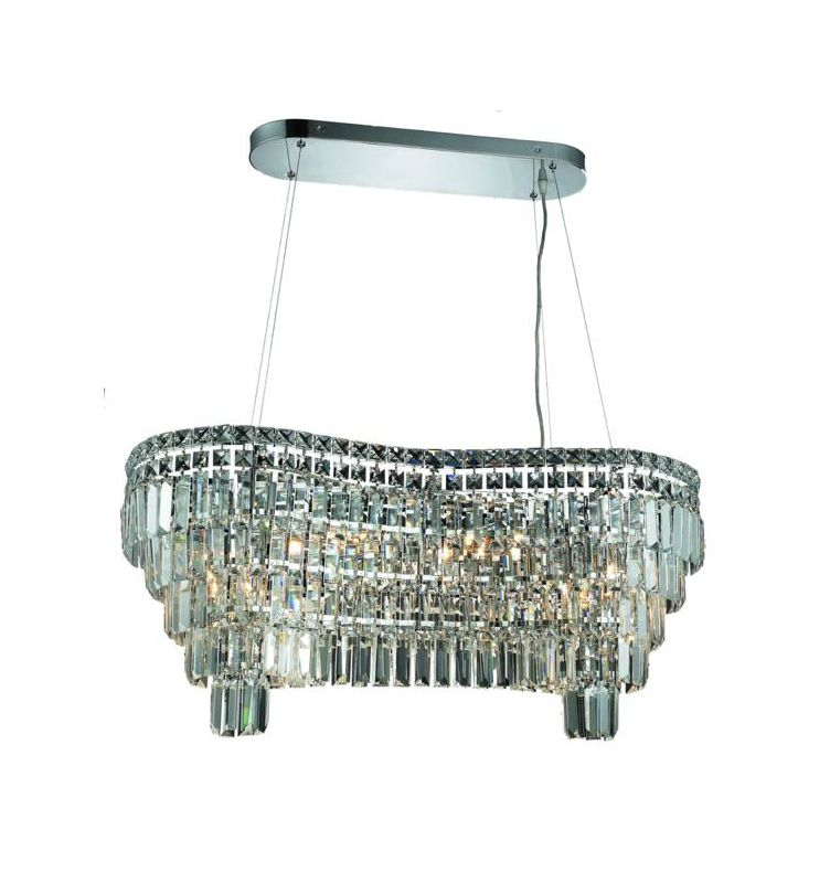 Elegant Lighting 2019D32C Maxim 14-Light Crystal Chandelier Finished