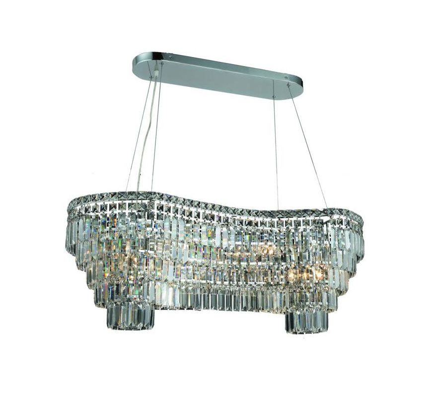 Elegant Lighting 2019D40C Maxim 14-Light Crystal Chandelier Finished