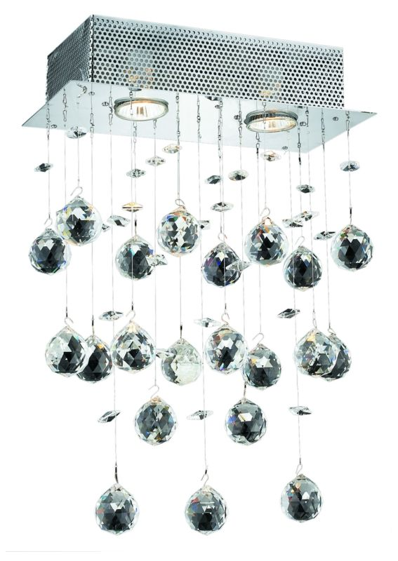Elegant Lighting 2021W12C Galaxy 2-Light Crystal Wall Sconce Finished
