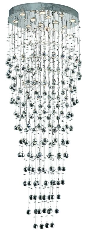 Elegant Lighting 2022G28C Galaxy 12-Light Single-Tier Crystal