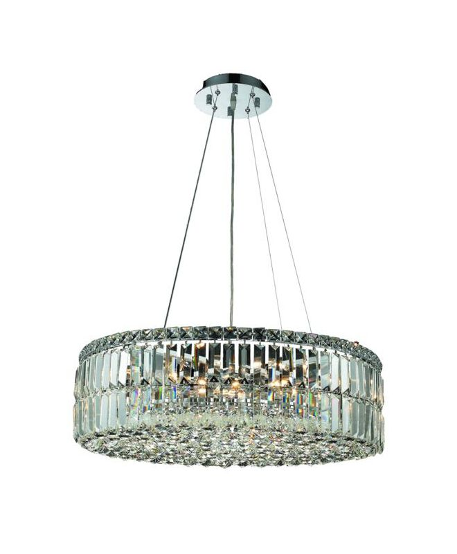 Elegant Lighting 2030D24C Maxim 12-Light Crystal Pendant Finished in Sale $5604.00 ITEM: bci2013348 ID#:2030D24C/SA UPC: 848145038645 :