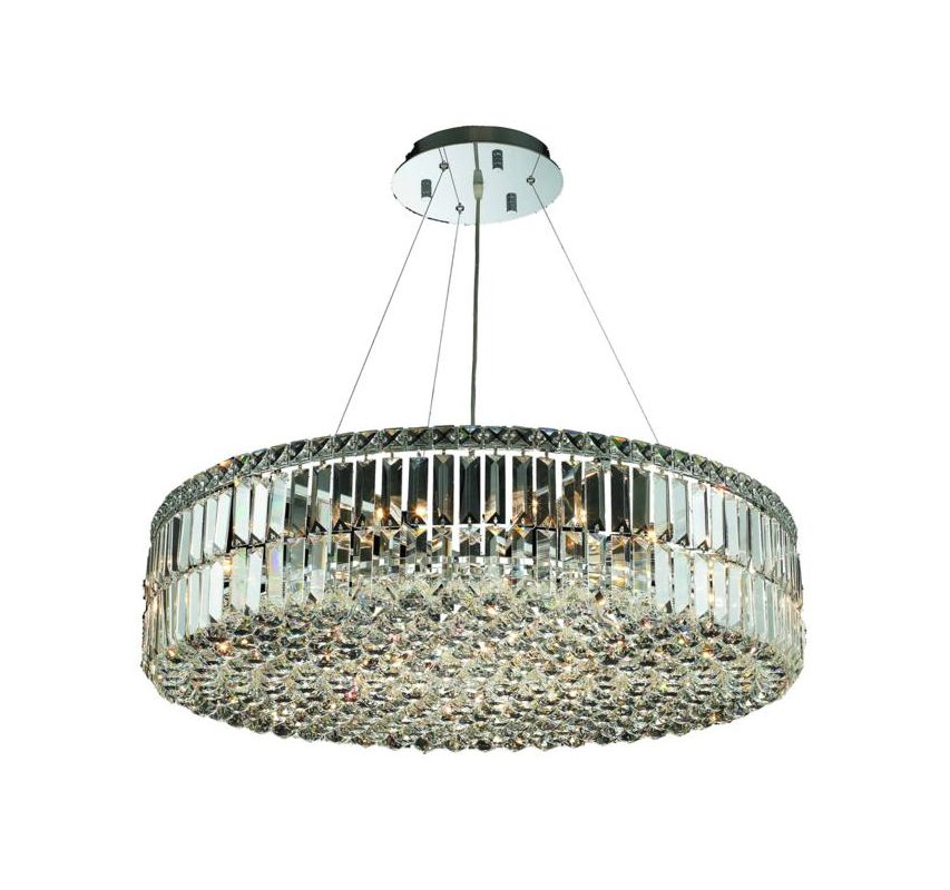 Elegant Lighting 2030D32C Maxim 18-Light Crystal Pendant Finished in