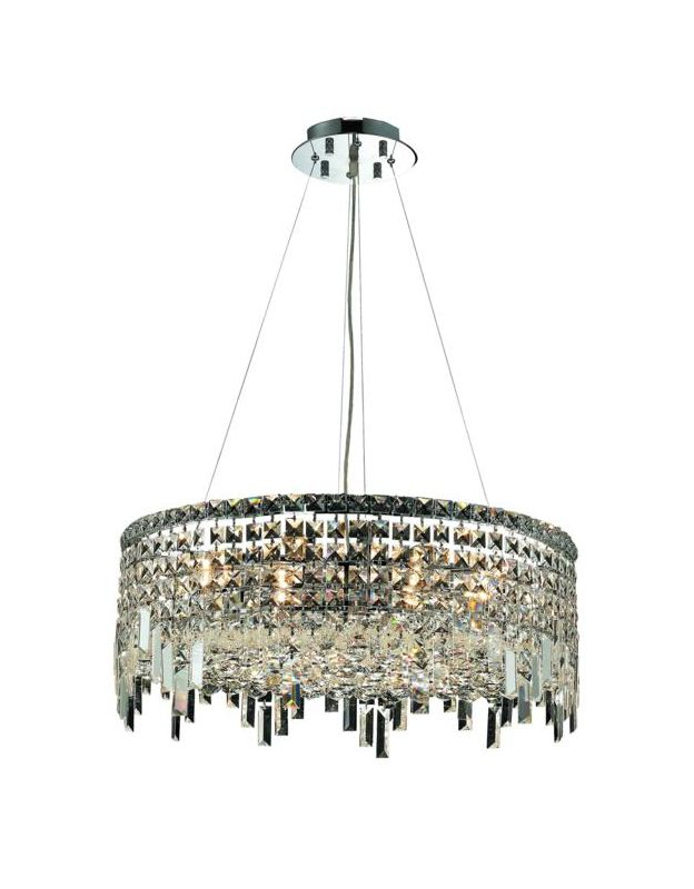 Elegant Lighting 2031D24C Maxim 12-Light Crystal Pendant Finished in