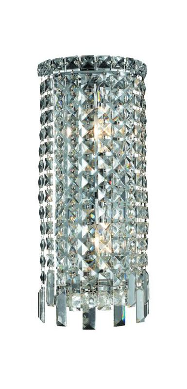Elegant Lighting 2031W8C Maxim 2-Light Crystal Wall Sconce Finished