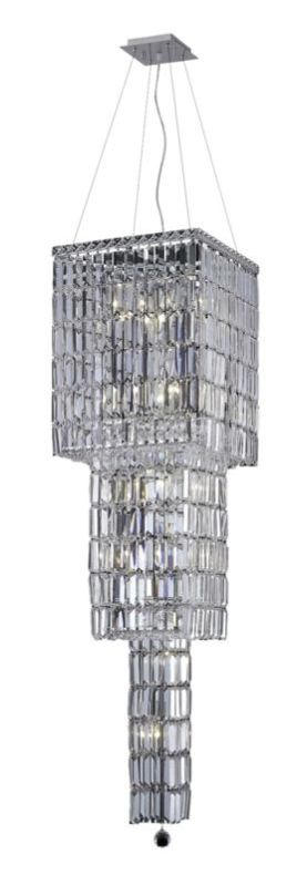 Elegant Lighting 2032G54C Maxim 14-Light Three-Tier Crystal