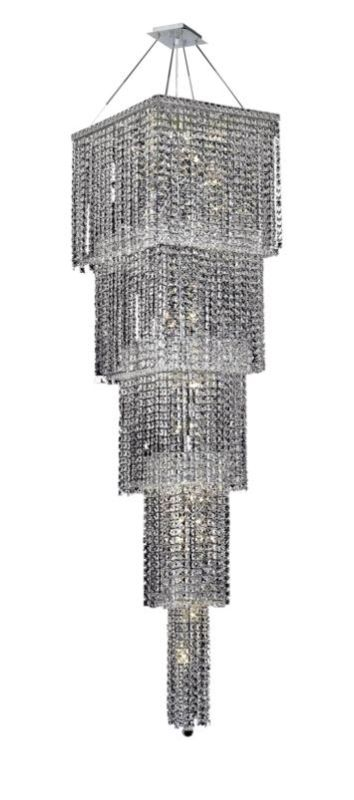 Elegant Lighting 2033G80C Maxim 22-Light Five-Tier Crystal