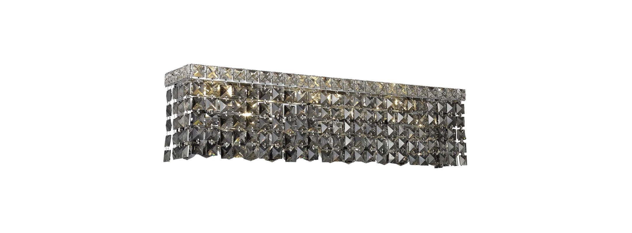 Elegant Lighting 2033W26C-SS Maxim 6-Light Crystal Wall Sconce