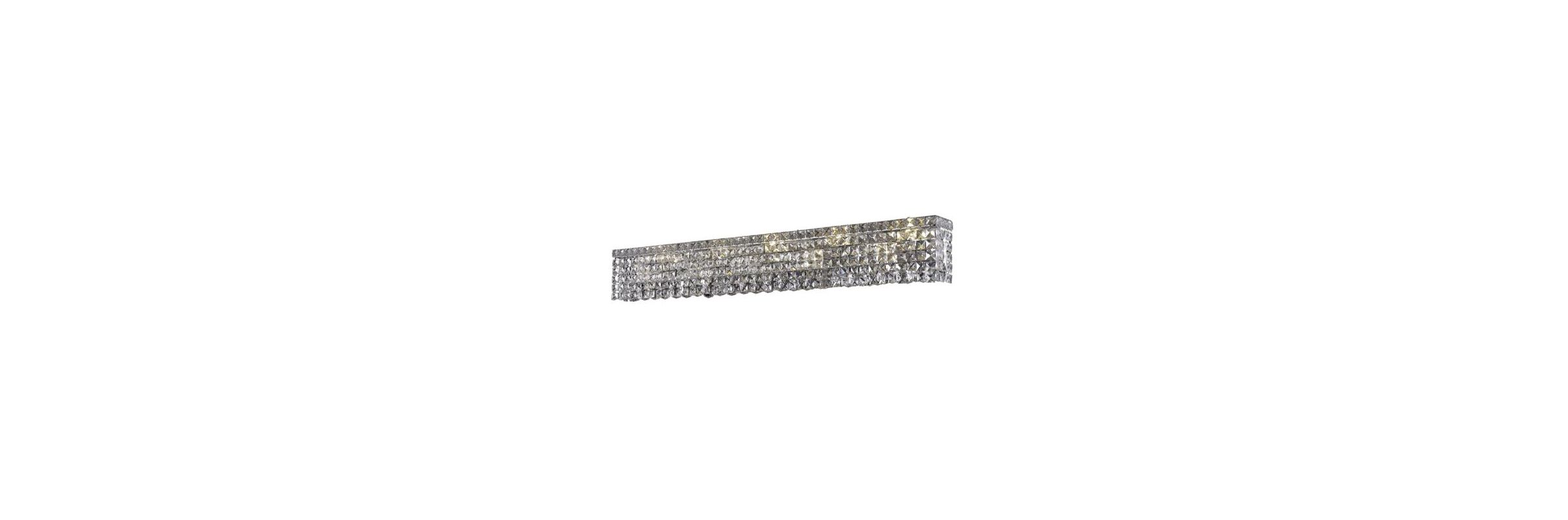 Elegant Lighting 2033W44C Maxim 10-Light Crystal Wall Sconce Finished