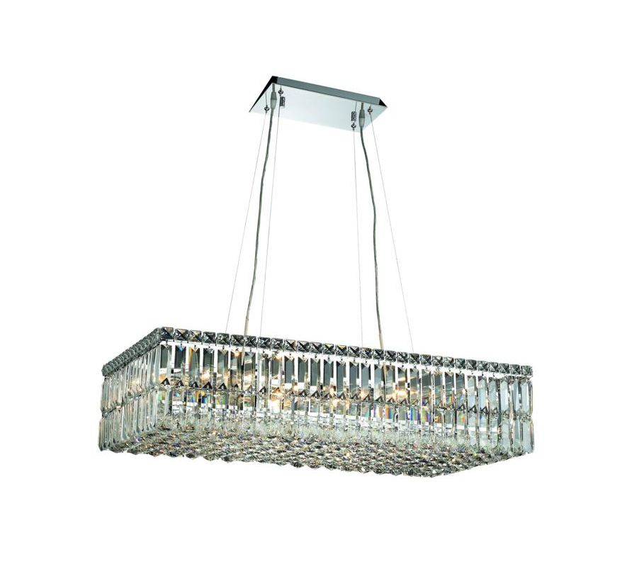 Elegant Lighting 2034D32C Maxim 16-Light Crystal Pendant Finished in