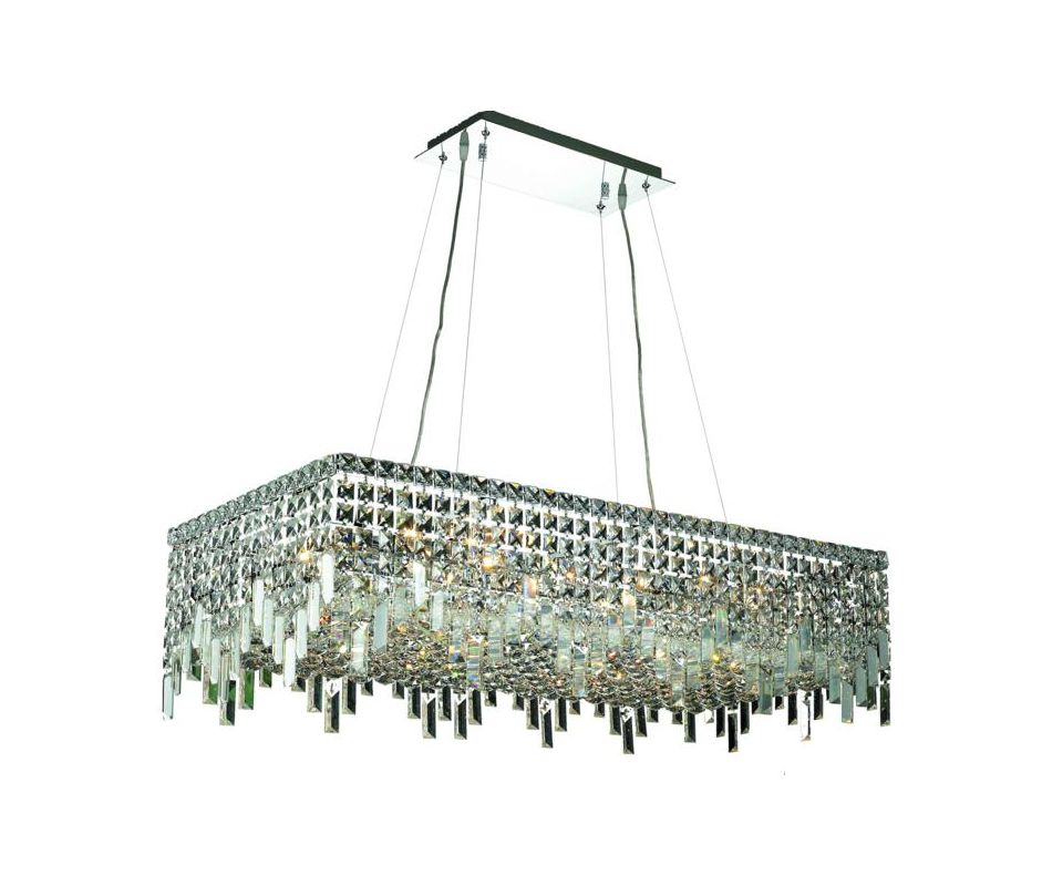 Elegant Lighting 2035D36C Maxim 16-Light Crystal Pendant Finished in