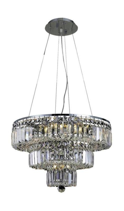 Elegant Lighting 2036D20C Maxim 9-Light Three-Tier Crystal Sale $1298.00 ITEM: bci2013708 ID#:2036D20C/RC UPC: 848145042697 :