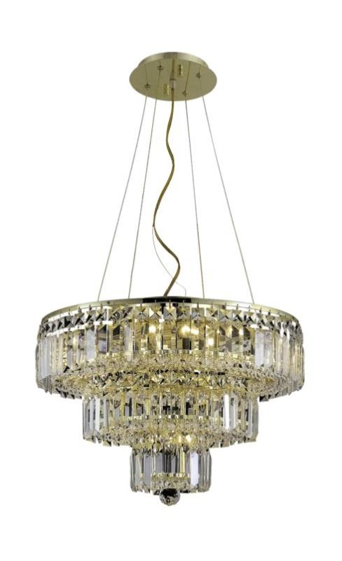 Elegant Lighting 2036D20G Maxim 9-Light Three-Tier Crystal Sale $1886.00 ITEM: bci2013716 ID#:2036D20G/SA UPC: 848145042765 :