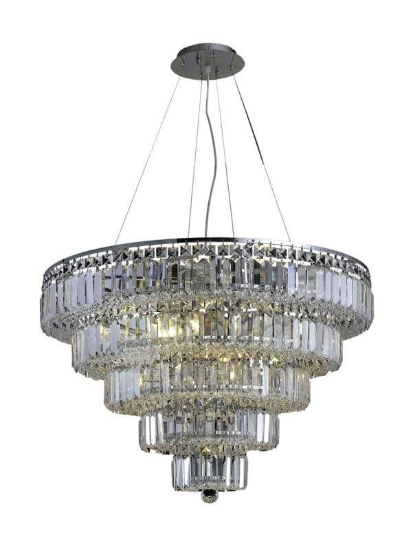 Elegant Lighting 2036D30C Maxim 17-Light Five-Tier Crystal