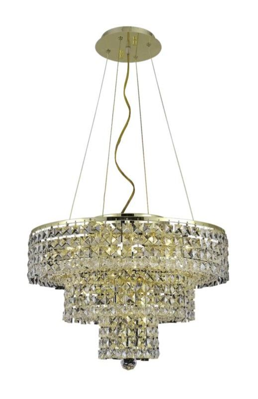 Elegant Lighting 2037D20G Maxim 9-Light Three-Tier Crystal Sale $2000.00 ITEM: bci2013748 ID#:2037D20G/SA UPC: 848145043083 :