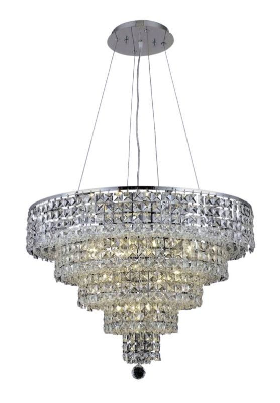 Elegant Lighting 2037D26C Maxim 14-Light Five-Tier Crystal Sale $5800.00 ITEM: bci2013753 ID#:2037D26C/SS UPC: 848145043137 :
