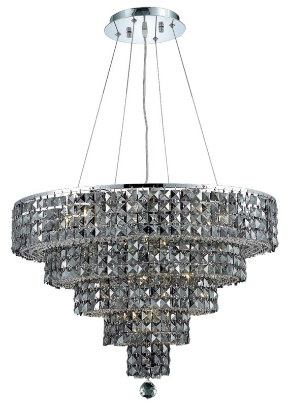 Elegant Lighting 2037D26C-SS Maxim 14-Light Five-Tier Crystal