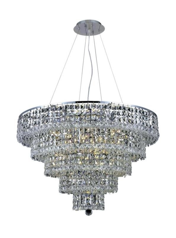 Elegant Lighting 2037D30C Maxim 17-Light Five-Tier Crystal