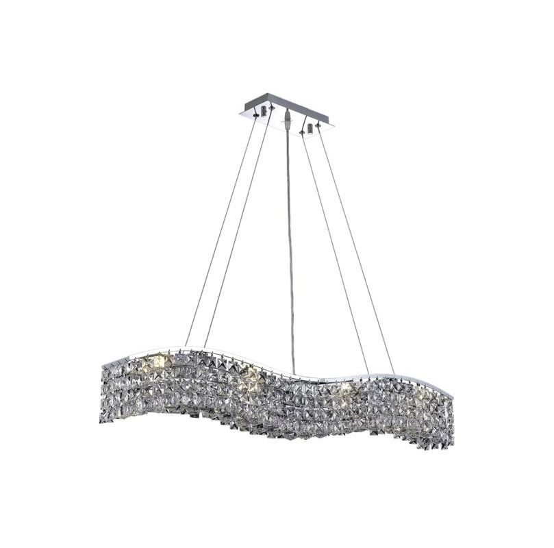 Elegant Lighting 2041D36C Contour 8-Light Crystal Pendant Finished in